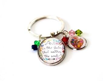 Artist keychain. Gift for artist. Gift for women. Art quote keychain gift. Artist keyring. Artist palette gift. Whimsical art gift for her.