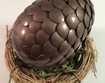 Dragon Egg - Dragon Egg Decoration - Dragon Egg with Nest - Dragon Egg Decor - Brown - GOT Dragon Egg