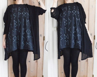 Rune Top, Handpainted in sizes Small to 5XL.