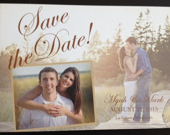 Save the Date Personalized Postcard with Photos, Save-the-Date, Wedding, Party, Engagement
