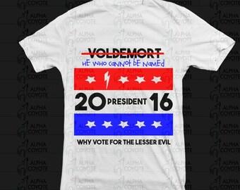 Shirt - Voldemort for president 2016