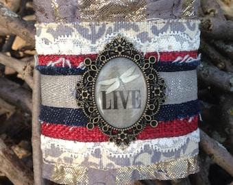 Handmade fabric cuff