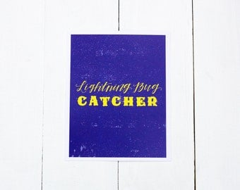 Lightning Bug Catcher, 8x10 Print