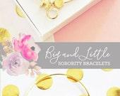 Sorority Jewelry Big Little Gifts Big Little Reveal Gift Big Little Sorority Gifts (EB3144) Sorority Bracelet