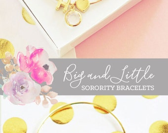 Sorority Jewelry Big Little Gifts Big Little Reveal Gift Big Little Sorority Gifts (EB3144WC) Sorority Bracelet