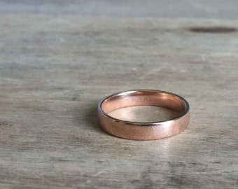 Vintage 10K rose gold band
