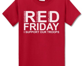 October 2016 shirts rock for Red support our troops shirts
