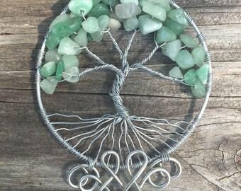 Aventurine Tree of Life with Filigree