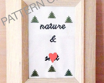 Nature and Sh*t Counted Cross Stitch Pattern, Funny Cross Stitch, Subversive Cross Stitch, Cross Stitch Pattern, DIY Cross Stitch