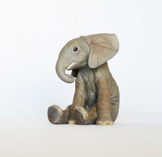 Lenox elephant calf figurine african elephant calf fine African elephant home decor