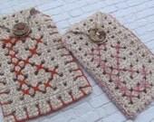 Personalized Cell Phone Accessory , Crochet cigarettes case , Fashion Accessory , Unisex Crocheted Mobile Phone Accessory