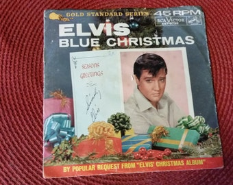 Elvis Presley Blue Christmas/Wooden Heart 45 rpm Pic Sleeve 1964