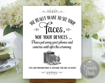 Unplugged Wedding Sign Printable Instant Download Ready to Print (#UNP5B)