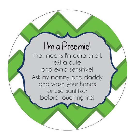 Boy Preemie sign, newborn, baby car seat tag, baby shower gift, stroller tag, baby car seat sign
