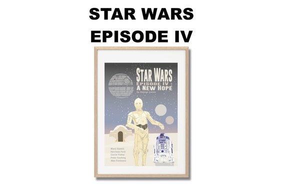 Star Wars Episode IV A New Hope Movie Print Poster Gee