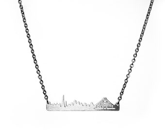 San Francisco Skyline Necklace in Silver