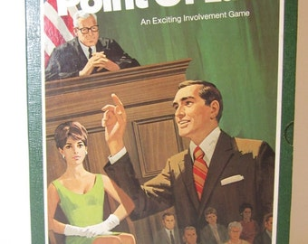 Bookshelf Game, Point Of Law, Courtroom Drama, Party Game, 3M,1972 Judge Jury Trial, Vintage Board Game, Learning Game, Lawyer, Home School,