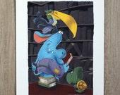 Librarian print - Book lover gift  - Librarian gift - Bookish gift - Library art print - Bibliophile - Bookworm art print-Modern nursery art