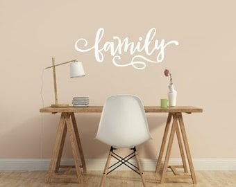 Family Wall Decal Vinyl Sticker - Family Picture Wall - Family Decal - Family Wall Words - Vinyl Family Decal - Vinyl Decals Lettering