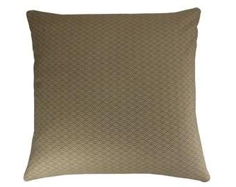 Beige Geometric Cushion Cover, Japanese Cushion, Geometric Pillow, Beige pillow