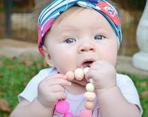 Floral Head Wrap- turban style headband, baby headband, baby girl headband, toddler girl headband, headbands for babies, fall headbands