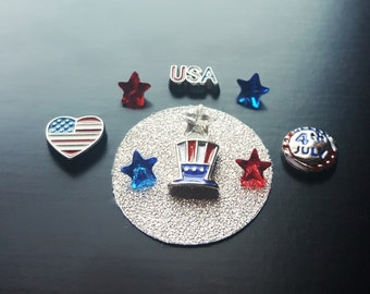 4th of July Floating Charm Set-Gift Idea
