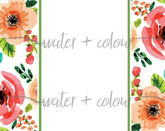 Floral Border template