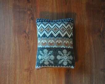 sweater mini pillow cover / colorful accent pillow / small fair isle throw pillow