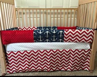 Anchor Baby Bedding - Custom Crib Bedding - Baby Crib Sets - Nautical Baby Bedding - Custom Baby Bedding - Baby Crib Bedding - Crib Bedding