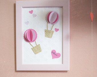 3D balloon framework | Pink and lilac