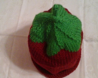 Strawberry hat for girl