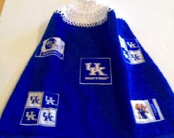 UK (University of Kentucky) Crocheted Sports Kitchen/Hand Towel
