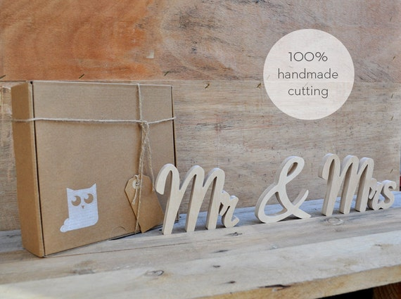 Mr And Mrs Large Wooden Letters: Mr &Mrs Wood Letters Handmade Cutting Hand Cut Wooden Wall