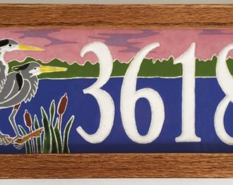 Heron address tile