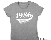 30th birthday party shirt ladies crew neck t shirt 30th birthday gift for her, daughter, wife, sister, girlfriend female friend