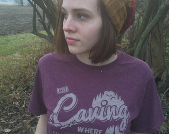 T-shirt,Caving, Where Real Stuff Happens - Unplug