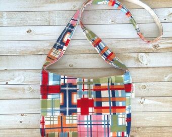 Small Crossbody Bag in Madras Cotton Print