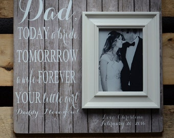 TODAY A BRIDE Frame, FOB Gift, Personalized Frame, Father of the Bride Gift, Wedding Gift for Dad, Wedding Frame, Dad Gift, 16x16