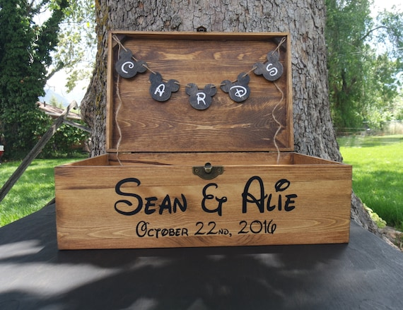Personalized Disney Wedding Gifts: Personalized Disney Card Box Disney Wedding Card Box Disney