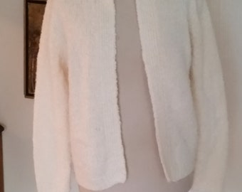 "Vintage Creamy White Sweater/Cardigan ""Tanner"""