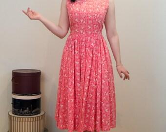 1950s Novelty Print Day Dress