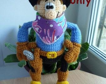 Cowboy, amigurumi crochet pattern
