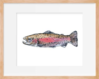 Rainbow Trout 103 Print, Hunting and Fishing, Fly Fishing, Fish Art, Fishing Decor, Trout Print, Fishing Wall Art, Fish Trout, Rainbow Fish