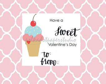 """Valentine's Day Card: """"Have a Sweet Valentine's Day"""" Digital Download"""