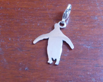 Silver penguin charm