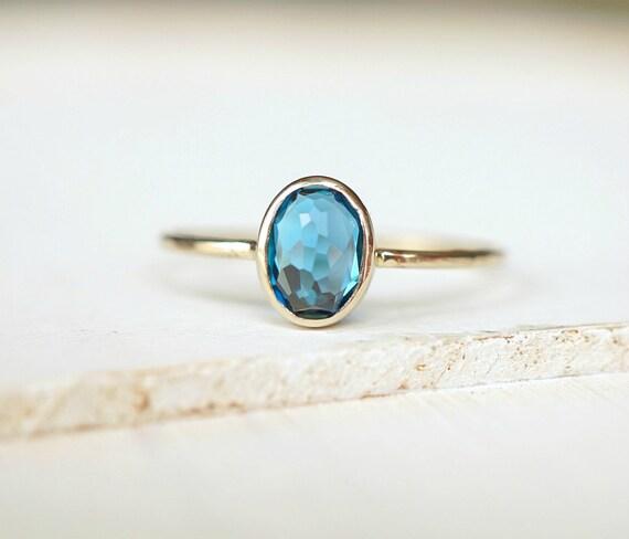 Oval London Blue Topaz Ring
