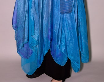 Silky Fairy Petal Skirt in Silky Soft Blues