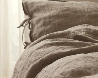 Linen duvet cover Queen, King, Euro King, Super King, Cal King, Emperor - Doona cover - Natural linen gray bedding by Linenspace
