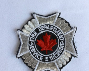 Vintage Canadian Fire Department NOS Iron On Shoulder Patch