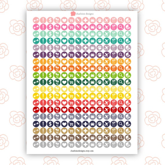 Planner Icon Stickers / Planner Printable / Printable Stickers / Erin ...